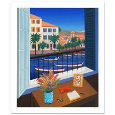 "Fanch Ledan   ""Window on Bonifacio""   Serigraph Limited Edition Canel Water  COA"