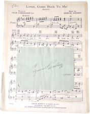 SIG (SIGMUND) ROMBERG COMPOSER SIGNED PAGE AUTOGRAPH