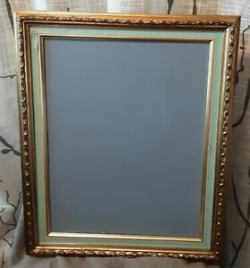 Vintage Wood Wall Hanging gold trim washi tape Chalkboard 18x21 memo, menu board