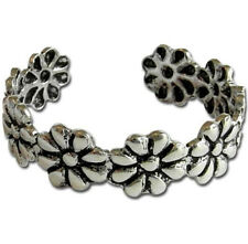 Daisy Flower Vintage Women Ring Adjustable Toe Joint Ring Retro Foot Jewelry A