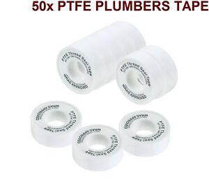 50 x PTFE Threaded Sealing PLUMBERS TAPE Plumbing Seals Metals & Plastic Quality