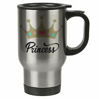 Travel Mug - Princess - Stainless Steel - Woman, Quotes - Reusable