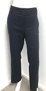 SPORTSCRAFT navy blue linen blend tailored Pants ~ sz 12
