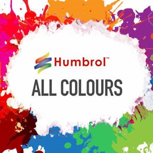 HUMBROL Enamel Model Paint Matt Gloss Satin 14ml ALL COLOURS