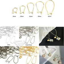 3 Size New Gold Silver Charm Pendant Kidney Earring Wire Earwire Findings