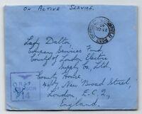 GB 1943 RAF Censor Cover / Bengar Dane Libya Base - Z13625