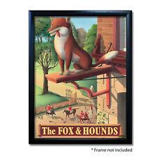 FOX & HOUNDS PUB SIGN POSTER PRINT | Home Bar | Man Cave | Pub Memorabilia