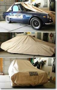 BRE Datsun Roadster Car Cover with BRE Championship Wreath Sold by Peter Brock