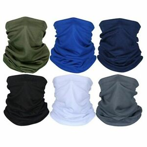 6pcs Versatile Neck Gaiter Outdoor Headband Bandana Face Scarf for Outdoor Sport