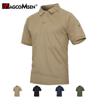 Mens Tactical Polo T-Shirt Military Hunting Hiking T-Shirts Work Casual Tee Tops