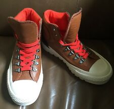 Converse Chuck Taylor All-Star Brown Leather High Top Sneakers Mens 5/Womens 6.5