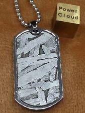 Meteorite Dog Tag pendant seymchan star amulet Widmanstatten accessory Jewelry