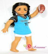 "Arianna 3pcs TOUCHDOWN FOOTBALL Costume Fits 18"" American Girl Doll"