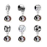Florida State Seminoles 3D European Charm Bracelet Dangle Bead - PICK YOUR SPORT