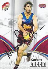 ✺Signed✺ 2007 BRISBANE LIONS AFL Card NIGEL LAPPIN