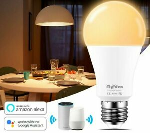 15W E27 Smart LED Bulb WIFI Control Lamp Warm Cool White Light Alexa Google Home