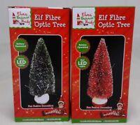 Elf Fiber Optic Mini Christmas Tree Battery Operated Novelty Home Party Decor