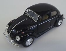Collectible Die Cast BLACK 1967 Volkswagen Beetle VW Bug 1:32 Scale Kinsmart