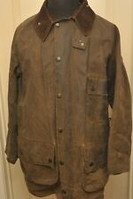 "BARBOUR SOLWAY HEAVY WAX COTTON JACKET DARK OLIVE 44"" / 112 CM VINTAGE"