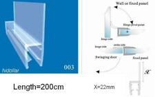 PVC PLASTIC SHOWER SCREEN DOOR WATER SEAL STRIP LINING FOR 10mm 2M WIDER FIN LID