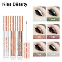 /6 Colors Liquid Glitter Shimmer Eyeliner Shiny Waterproof Long-lasting Makeup