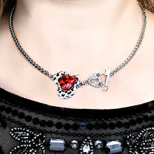 Submissive day collar BDSM chain necklace lock choker heart pendant dominant sub