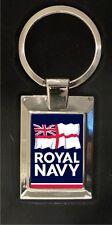 The Royal Navy logo - high polished metal keyring