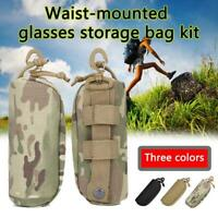 Outdoor Tactical Molle Eyewear Pouch Sunglasses Case Shockproof Protective  Top