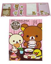 Sanrio Bear RILAKKUMA Post-It NOTE MEMO PAD Set # pink
