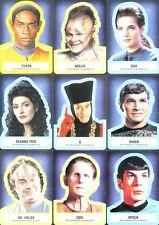Star Trek Aliens Autocollant Chase Carte Ensemble 18 S1 - S18