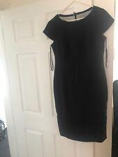 M&S Navy Blue Shift Pencil Dress Size 12 Formal Business Officewear