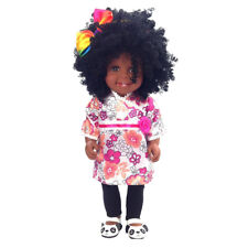 45cm Lifelike Baby Doll Silicone African-American Newborn Infant Afro Doll