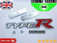 Type R Honda Front Grill Badge Emblem High Quality Aluminium Civic Accord