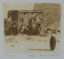 DAVID BOTHA Signed Ltd Ed Engraving THE WELL 1982