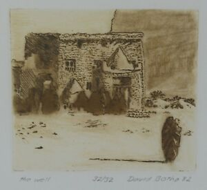 DAVID BOTHA Signed Ltd Ed Engraving THE WELL 1982