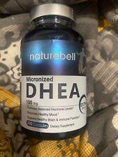 Naturebell Micronized DHEA 100 mg 200 Capsules Healthy Mood Brain Exp 7/2020
