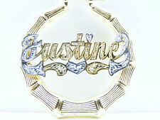 """PERSONALIZED GOLD/SILVER 1.5 """" BAMBOO NAME EARRINGS D"""