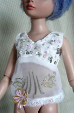 "White Top Outfit  for 16"" Tonner Ellowyne Wilde, BJD, ADG Delilah Noir"