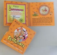 Niue 1 Dollar 2014 Si / Ag The Flintstones / Familie Feuerstein PP / proof