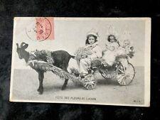 CPA. LUCHON. 31 - FÊTE des FLEURS. 1905. Attelage. Chèvre.