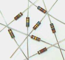 62 Ohm 1/2W 5% Carbon Composition Resistor (Lot of 10) - Carbon Comp 500mW