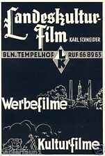 Kulturfilm Werbefilm Schneider Reklame 1937 Landeskulturfilm Film Tempelhof Ad