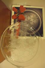 "VINTAGE INDIANA GLASS CHRISTMAS SNOW FLAKE 13"" PLATTER"