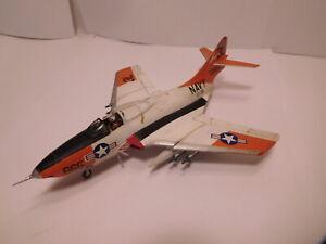Vintage Built Hasegawa 1/72 Scale Grumman F9F-8 Navy Cougar
