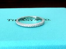 TIFFANY & CO PLATINUM SOLESTE DIAMOND Wedding Band RING Retail $2350 SIZE 5.5