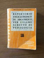 Reportorio enciclopedico... - Ugo Barbano - Ciranna Roma - 1972 - AR