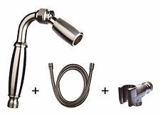 1.5 GPM All Metal Low Flow Handheld Showerhead w/ Hose & Holder: Nickel