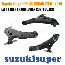 PAIR Toyota Kluger GSU40 GSU45 Front Lower Control Arm Side LH + RH  2007 - 2014