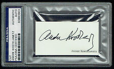 Andre Kostelanetz (d. 1980) signed autograph 1.5x3 cut Conductor PSA Slabbed