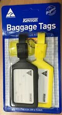 Kevron Baggage Tags 200 x 52mm 2 Tags with Bonus Key Tag Assorted Colours